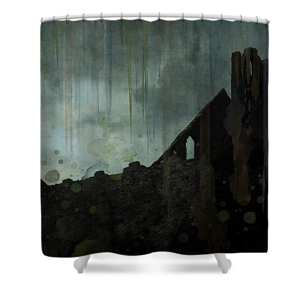 Celtic Ruins Shower Curtain