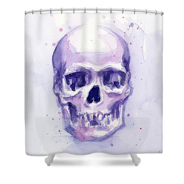 Purple Skull Shower Curtain