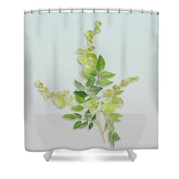 Yellow Tiny Flowers Shower Curtain
