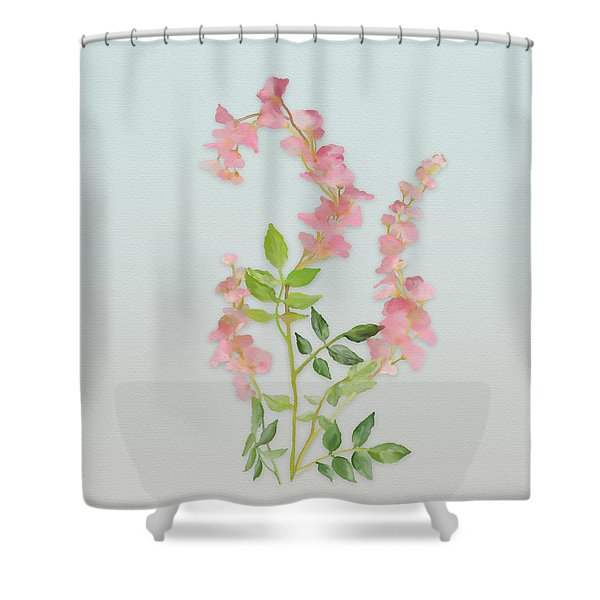 Pink Tiny Flowers Shower Curtain