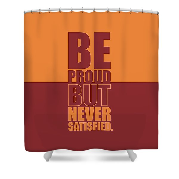 Getting Stronger Each Day Gym Quotes Poster Shower Curtain