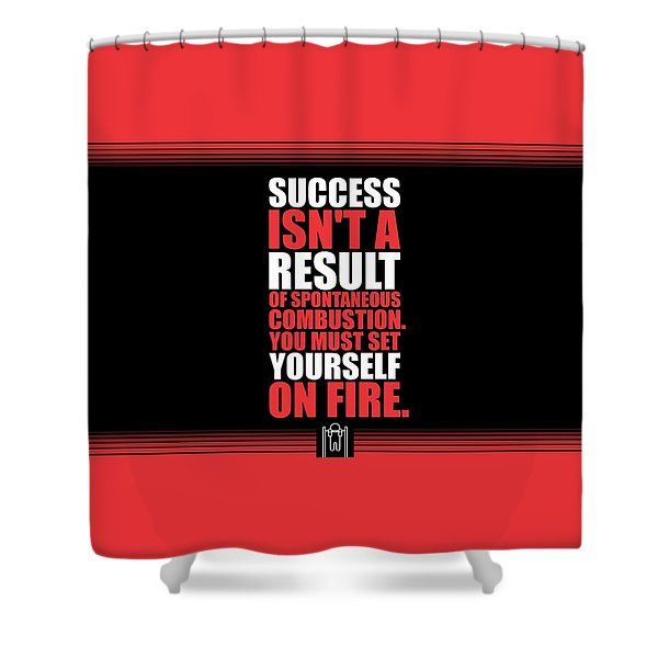 Success Is Not A Result Gym Motivational Quotes Poster Shower Curtain