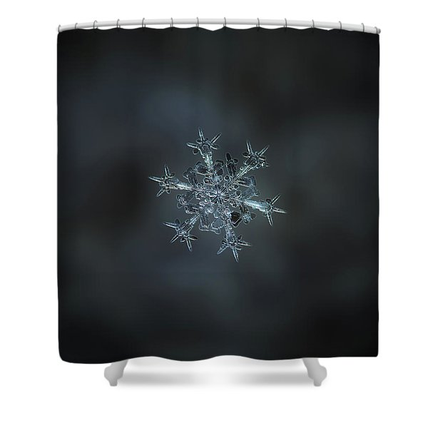Snowflake Photo - Starlight II Shower Curtain