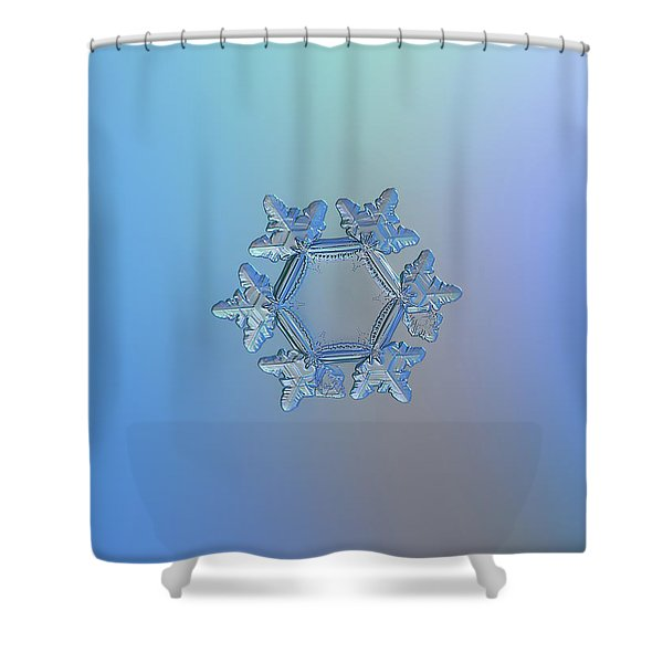 Snowflake Photo - Sunflower Shower Curtain