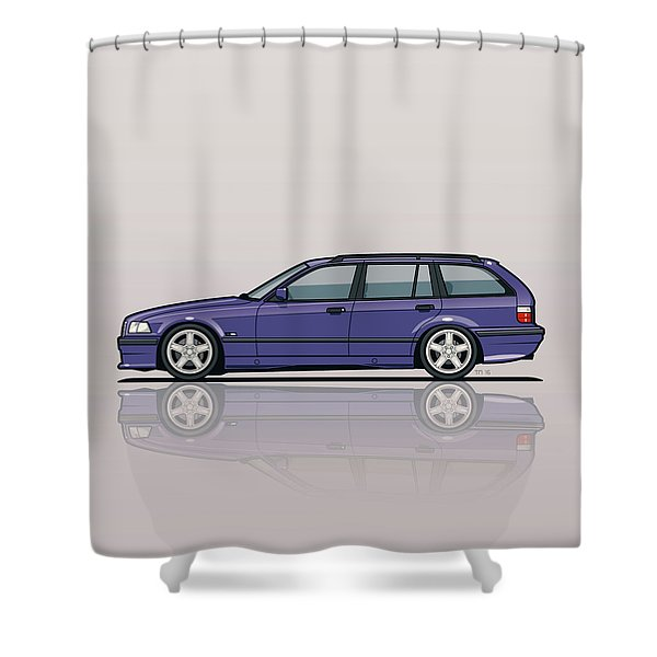 Bmw E36 328i 3-series Touring Wagon Techno Violet Shower Curtain