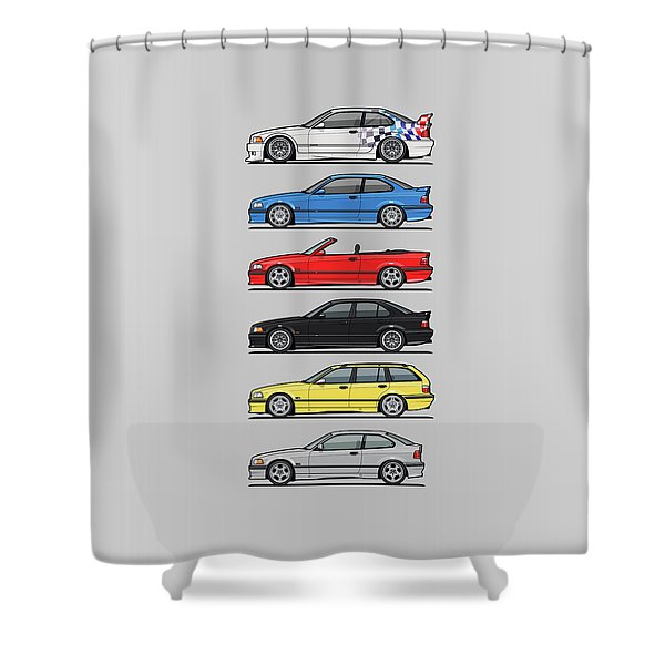Stack Of E36 Variants Shower Curtain