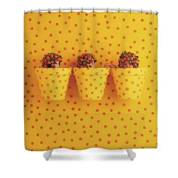 Spotted Pots Shower Curtain