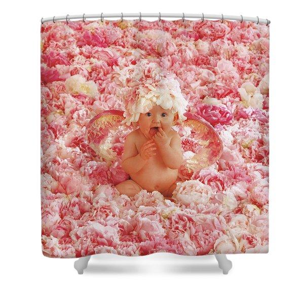 Peony Angel Shower Curtain