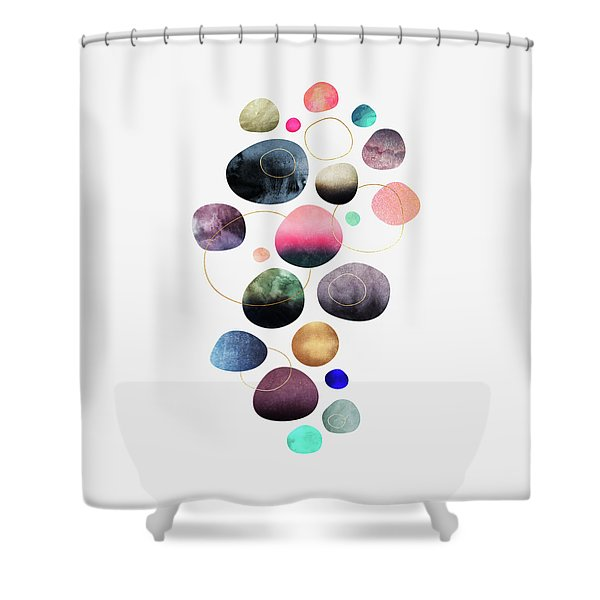 My Favorite Pebbles Shower Curtain
