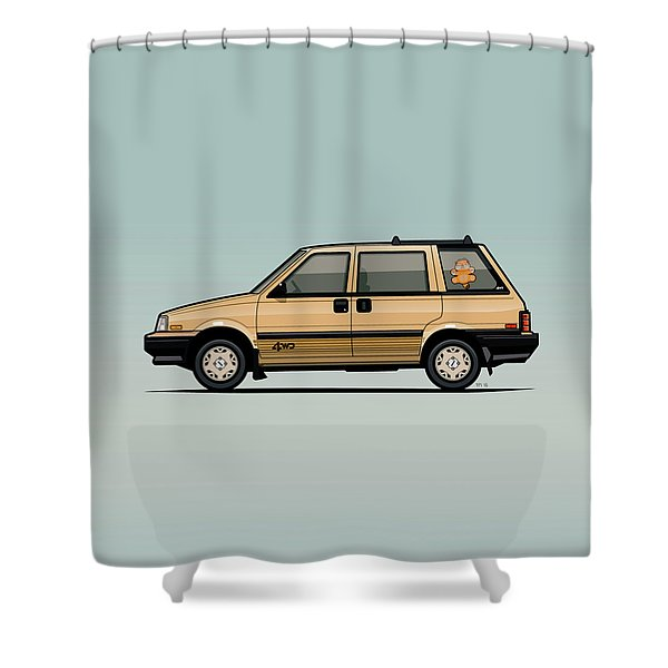 Nissan Stanza / Prairie 4wd Wagon Gold Shower Curtain