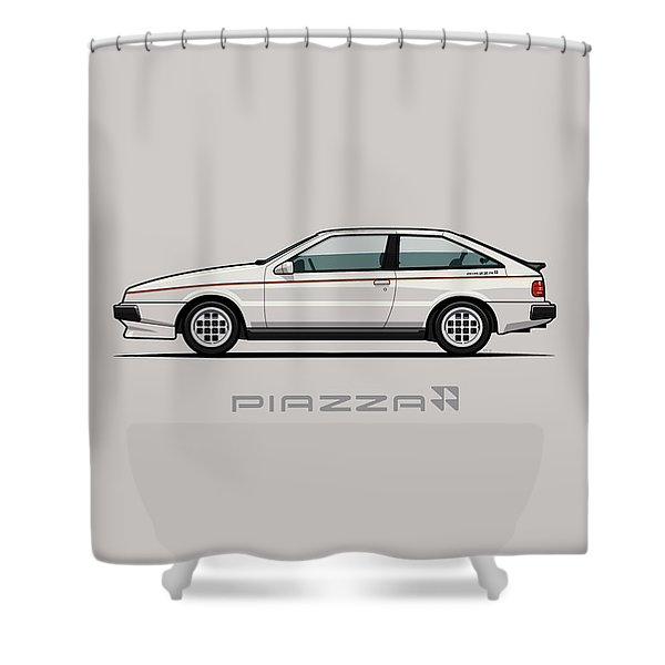 Isuzu Piazza/impulse Xe White Shower Curtain