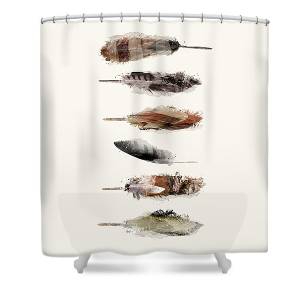 Free Fall Feathers Shower Curtain