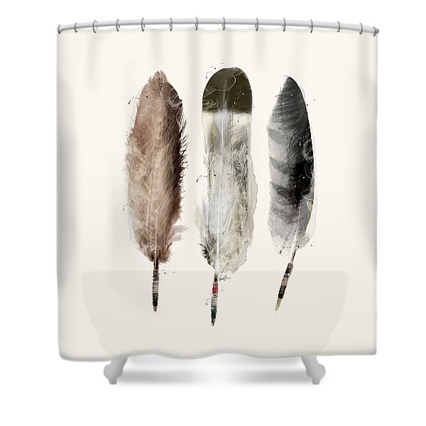 Native Feathers Shower Curtain