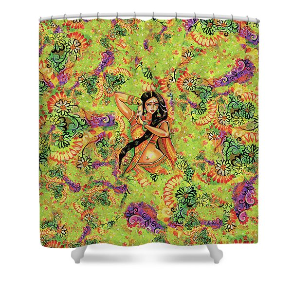 Dancing Nithya Shower Curtain