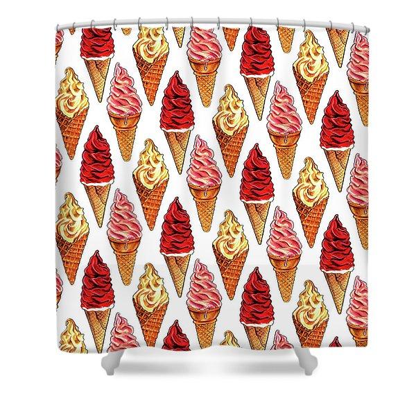 Soft Serve Pattern Shower Curtain
