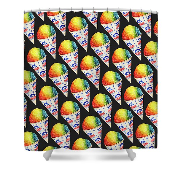 Snow Cone Pattern Shower Curtain
