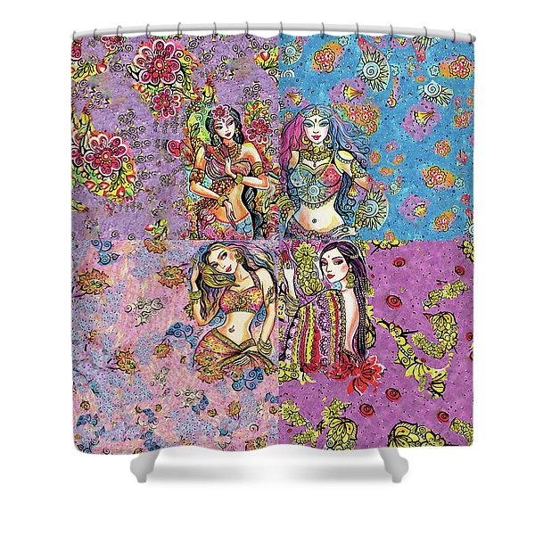 Eastern Flower Shower Curtain