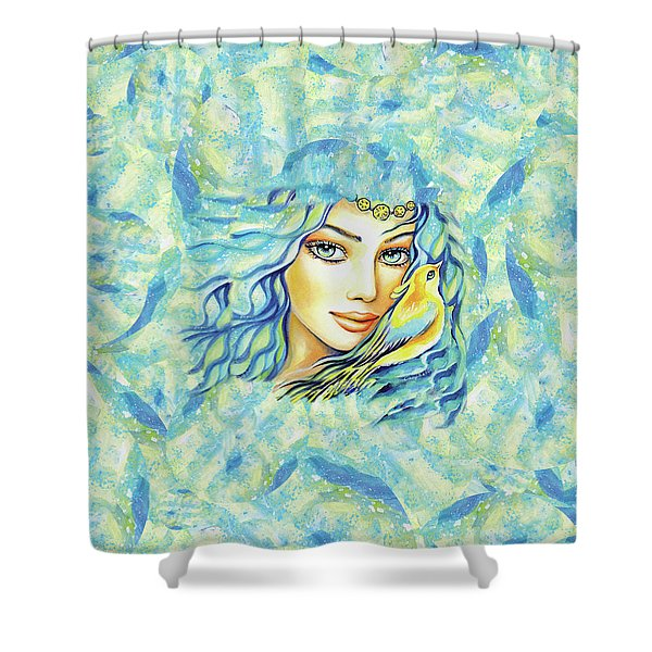 Bird Of Secrets Shower Curtain