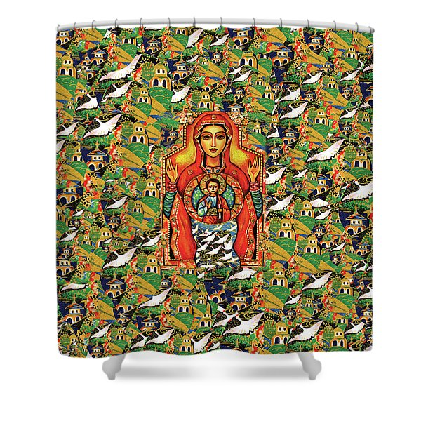 Our Lady Of The Sign Shower Curtain