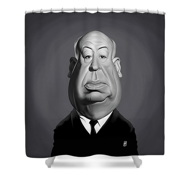 Celebrity Sunday - Alfred Hitchcock Shower Curtain