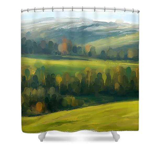 Rich Landscape Shower Curtain