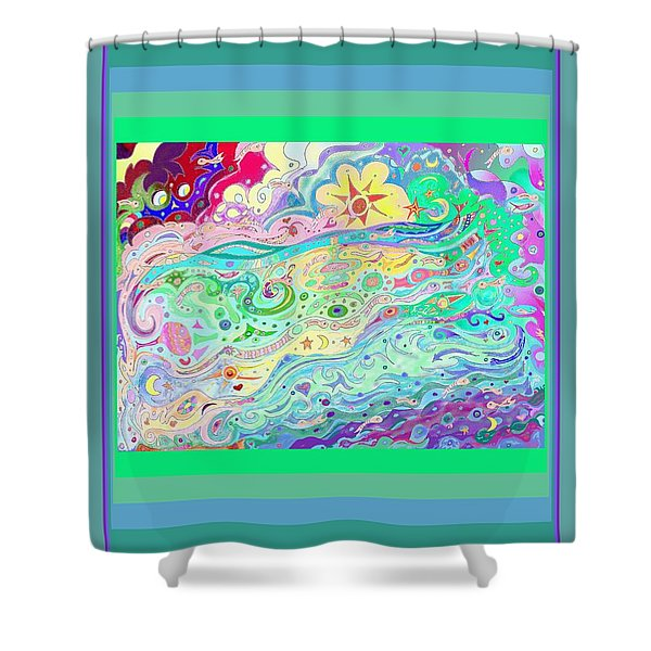 Beltaine Seashore Dreaming Shower Curtain