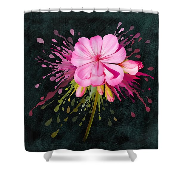 Color Eruption  Shower Curtain