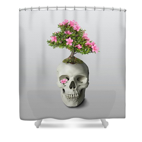 Bonsai Skull Shower Curtain