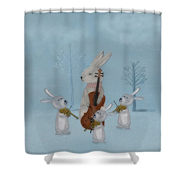 The Bunny Quartet Shower Curtain