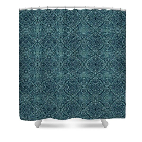 Indigo Diamond Cross Pattern 24in Shower Curtain