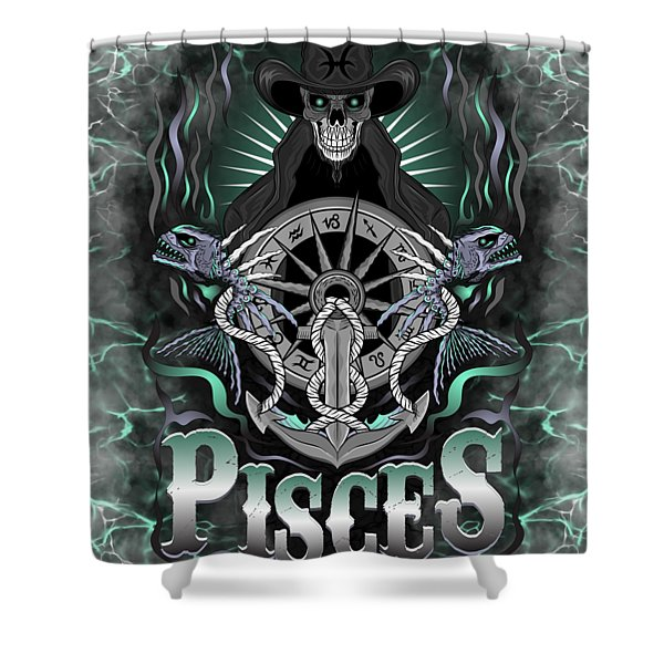 The Fish Pisces Spirit Shower Curtain
