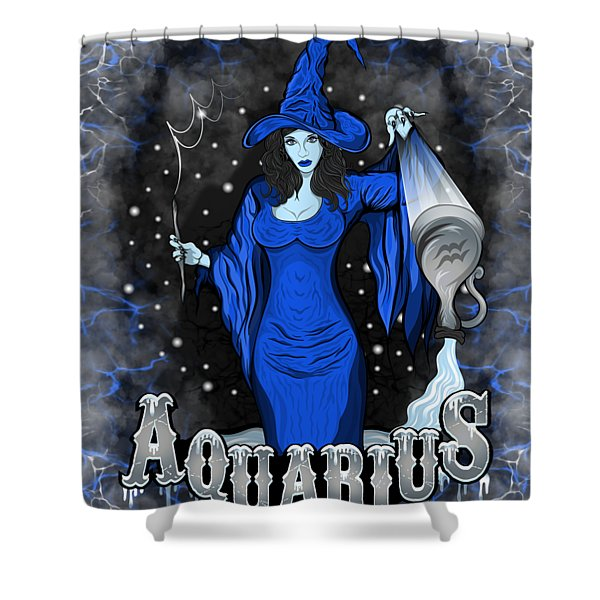 The Water Bearer Aquarius Spirit Shower Curtain