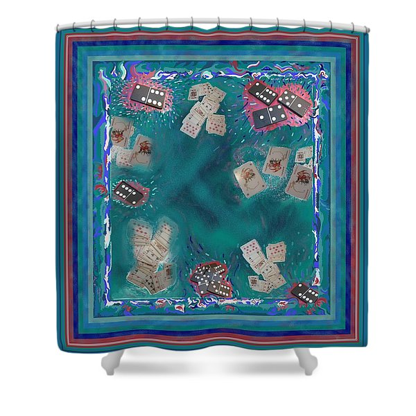 Surreal Lake Art And Poem Shower Curtain