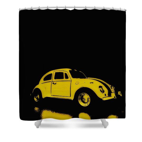 Yellow Bug Shower Curtain