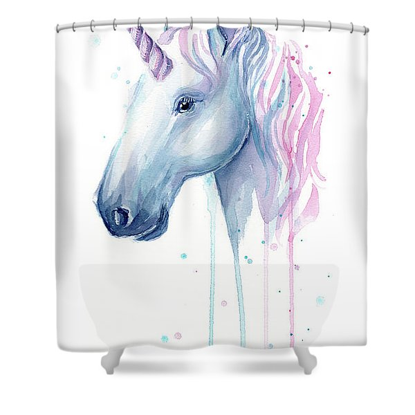 Cotton Candy Unicorn Shower Curtain