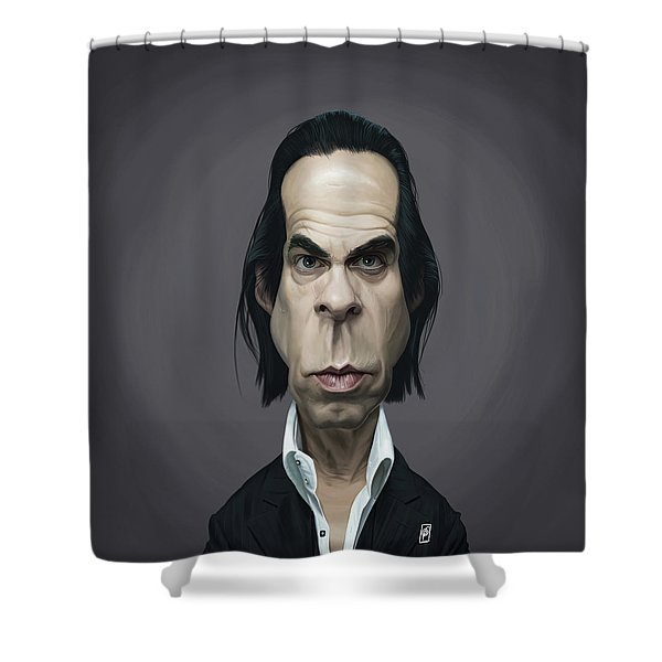 Celebrity Sunday - Nick Cave Shower Curtain