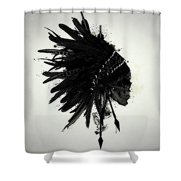 Warbonnet Skull Shower Curtain