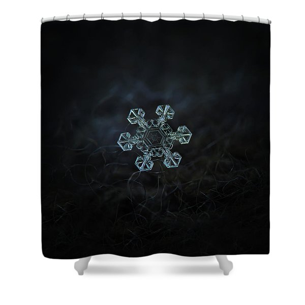 Real Snowflake - Ice Crown New Shower Curtain