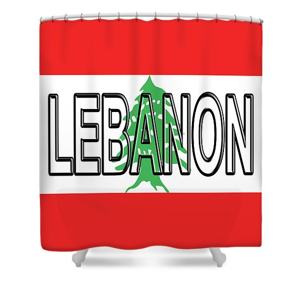 Flag Of Lebanon Word Shower Curtain