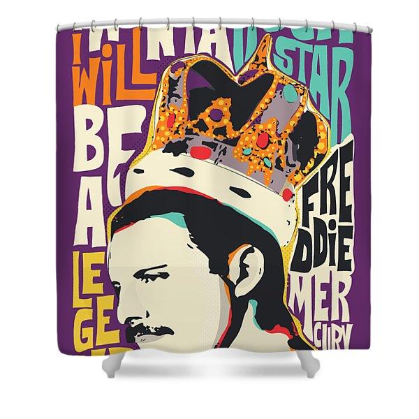 Freddie Mercury Pop Art Quote Shower Curtain