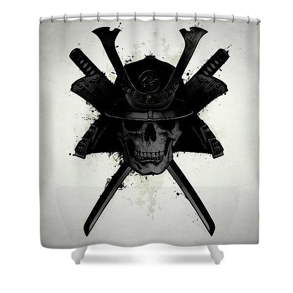 Samurai Skull Shower Curtain