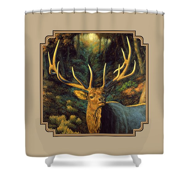 Elk Painting - Autumn Majesty Shower Curtain