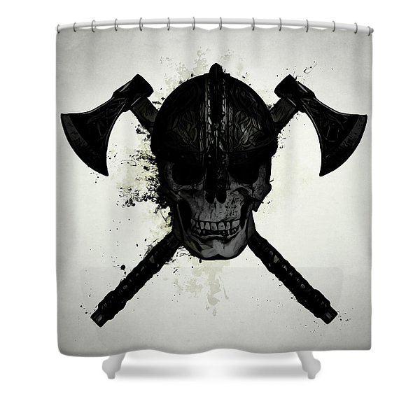 Viking Skull Shower Curtain