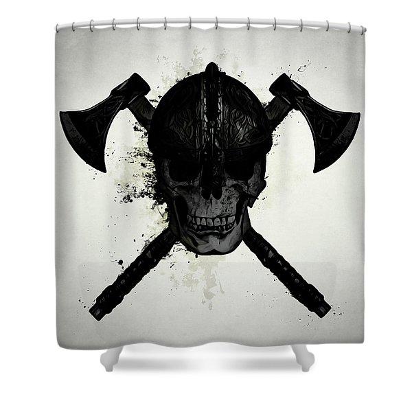 Viking Skull Shower Curtain
