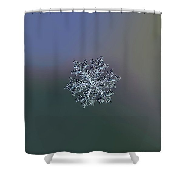 Real Snowflake - Hyperion Dark Shower Curtain