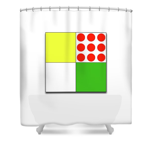 Tour De France Jerseys 1 White Shower Curtain