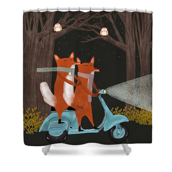 The Fox Mobile Shower Curtain