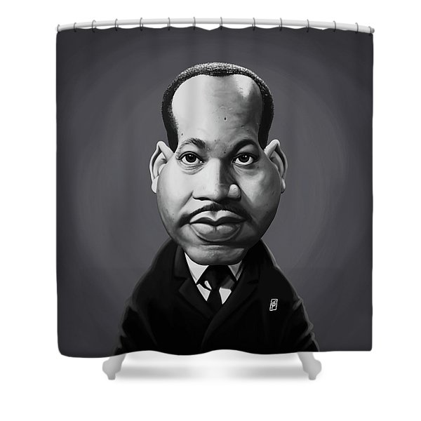 Celebrity Sunday - Martin Luther King Shower Curtain