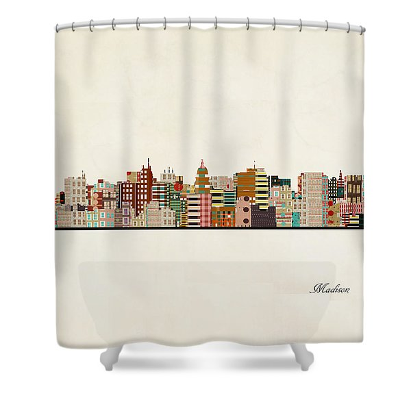 Madison Skyline Shower Curtain