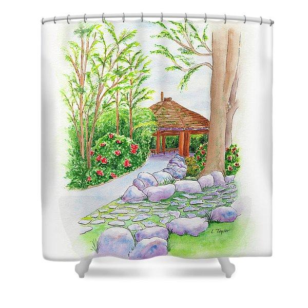 Pavilion Pathway Shower Curtain